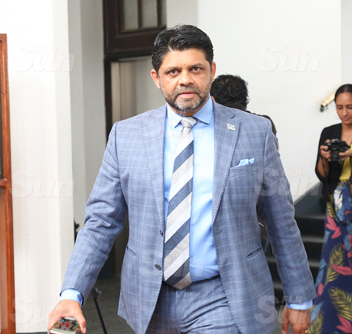 Attorney-General and Minister for Economy, Civil Service and Communications, Aiyaz Sayed-Khaiyum outside of Parliament on August 31, 2020. Photo: Kelera Sovasiga