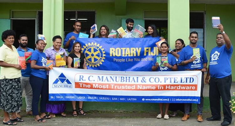 Rotary Club Donates 500 Books To Nasinu Gospel Primary