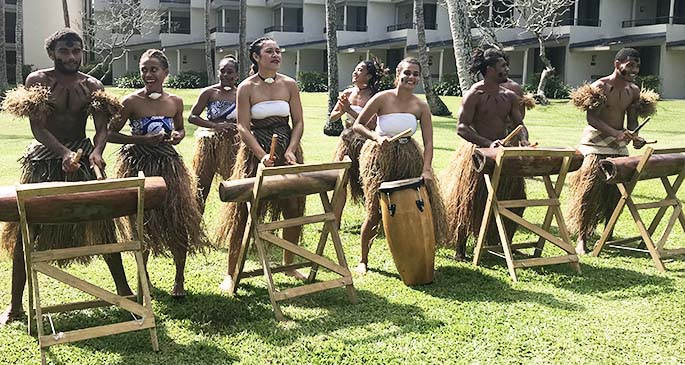 Vou Dance Group performance at Shangri-La's Fijian Resort and Spa's first Beach, Beats and Eats weekend last month.