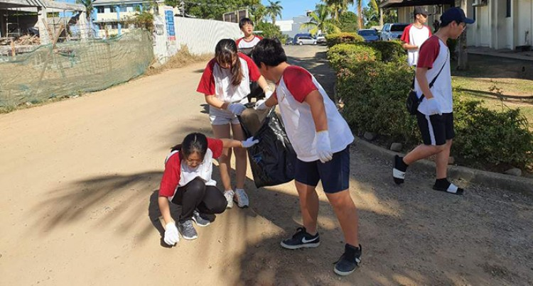 Nadi Homestay Korean Students Give Back