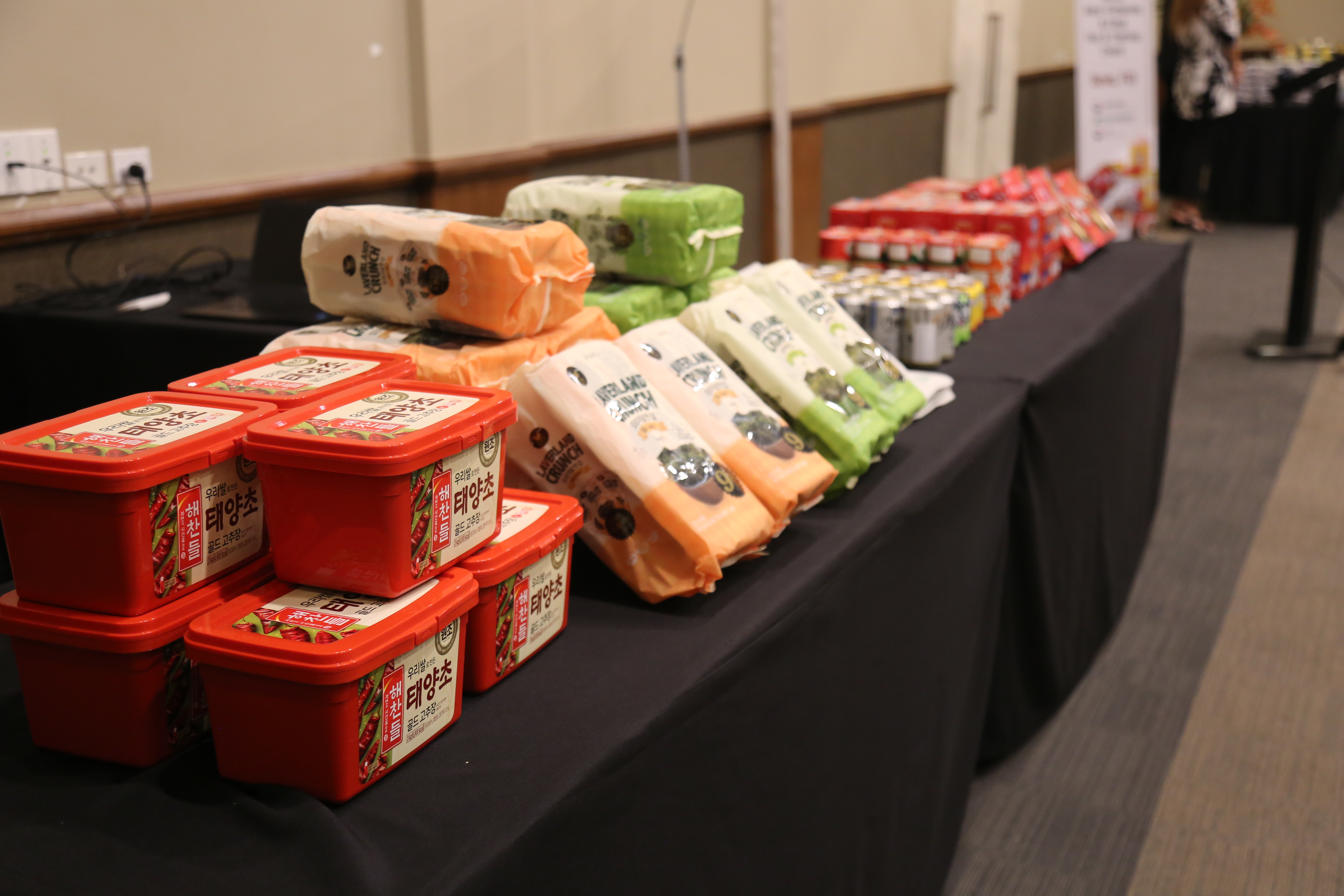 Range of Korean products that was displayed at the 2020 Korea Agro-Fisheries Food Fair and Tasting event at the Grand Pacific Hotel in Suva on August 26, 2020. Photo: Jennis Naidu