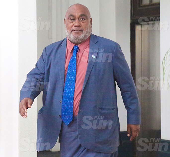 Minister for Fisheries, Semi Koroilavesau outside of Parliament on August 31, 2020. Photo: Kelera Sovasiga