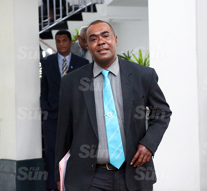 Opposition Member, Mosese Bulitavu outside of Parliament on August 31, 2020. Photo: Kelera Sovasiga