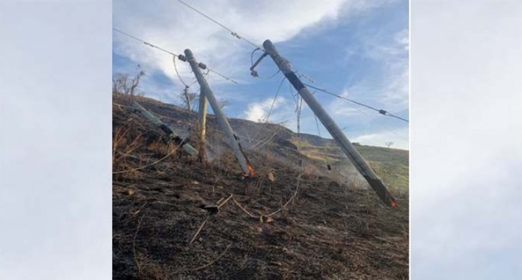 Bush Fire Caused Power Outage In Tavua, Vatukoula, Nadarivatu And Rakiraki