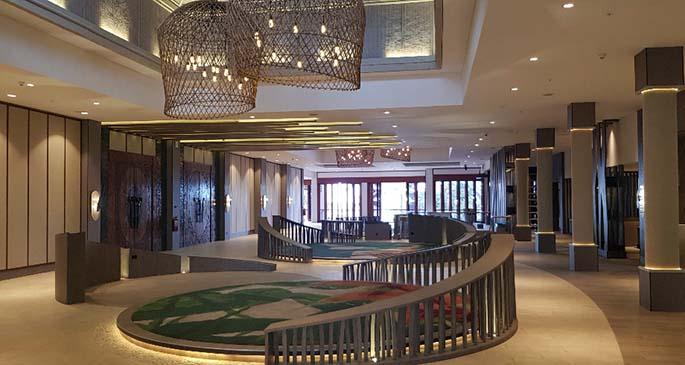 The newlook Sofitel Fiji Resort and Spa lobby.