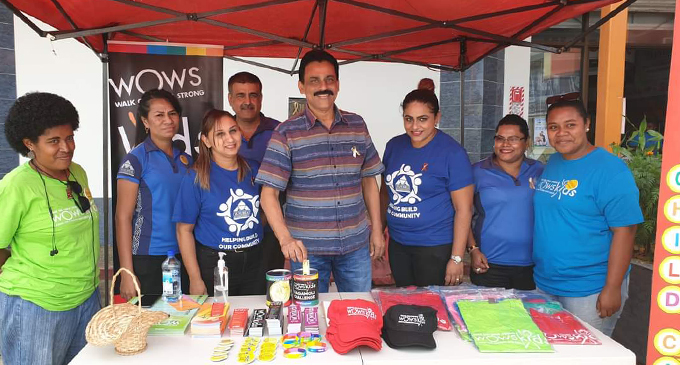 RC Manubhai director - Suva, Ashok Patel with staff and volunteers of WOWs Kids Fiji at their Suva branch.