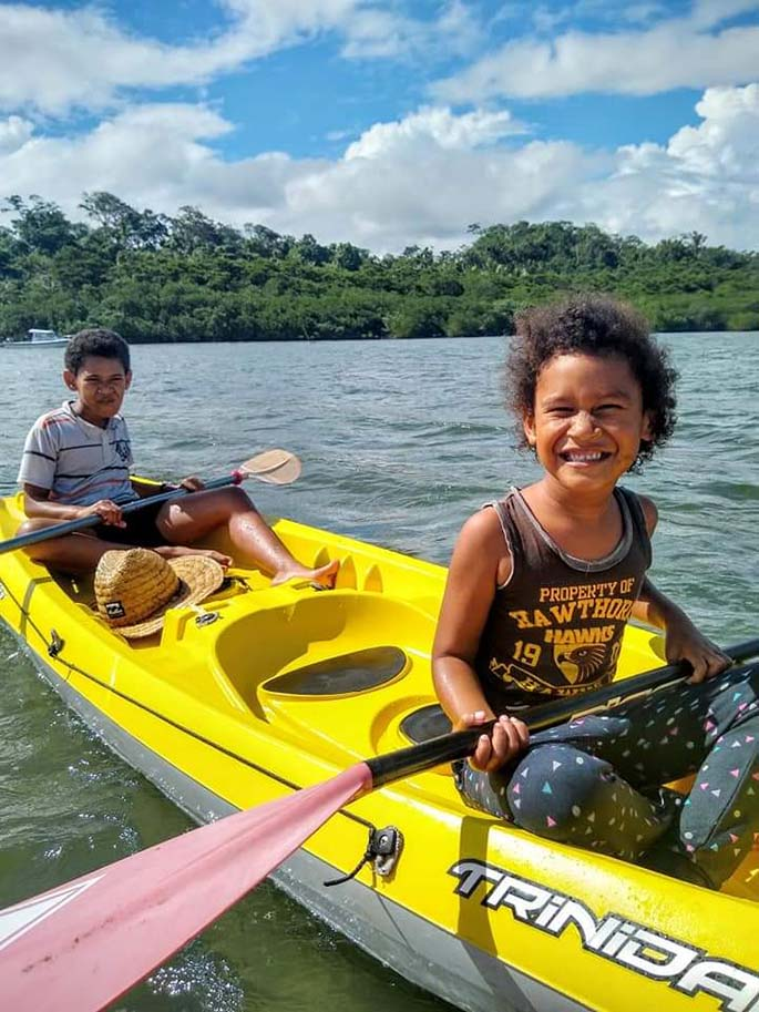 Kayaking is one of many activities at Drevula Heights Villas.