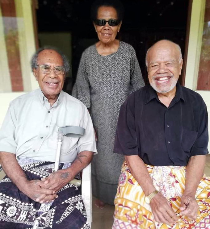 The late Mohammed Apisai Tora (left), with his first cousins Timoci Naco and Luisa Tulele