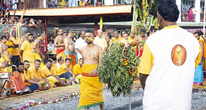 Hindu devotees perform their annual firewalking ceremony at the Mariamman Sangam Temple in Suva on September 27, 2020, marking the end of their 10-day fasting period. The ceremony attracted many viewers after Government and Police approved their request to hold the event in light of the pandemic. Photos: Kelera Sovasiga.