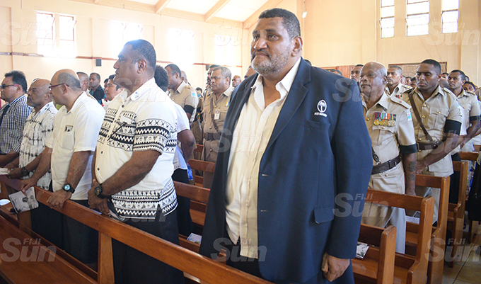FRU CEO, John O'Connor during funeral service of Fiji Correction servicers Principal Corrections officer and former National 7's player, Lemeki Koroi at Centenary Methodist Church on September 16, 2020. Photo: Ronald Kumar.