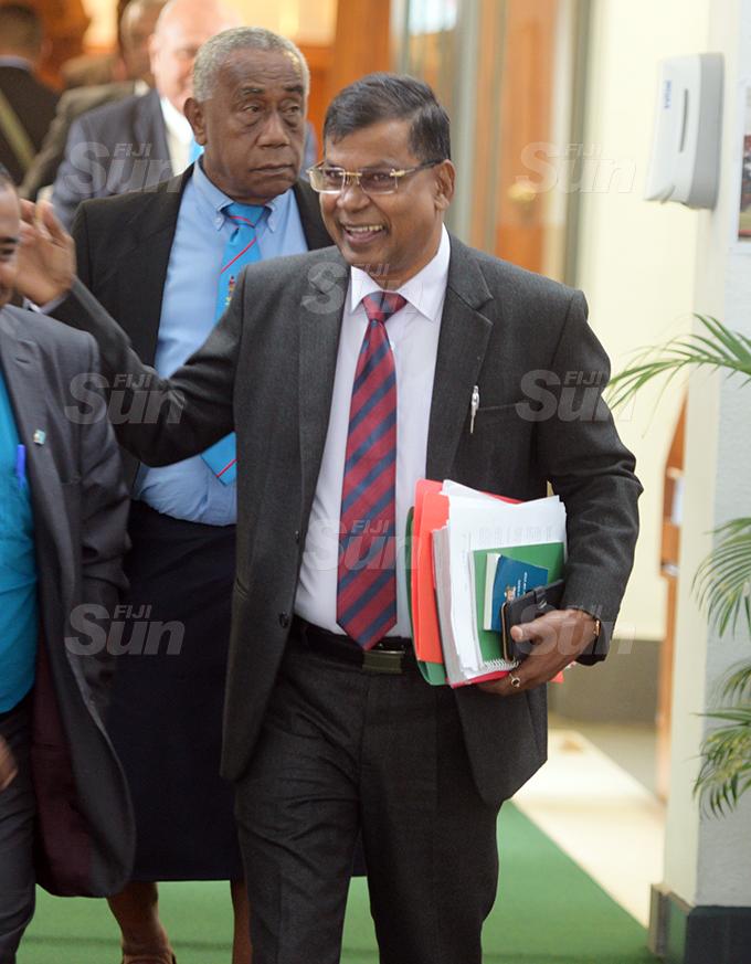 Opposition Member of Parliament Biman Prasad outside Parliament 2, 2020. Photo: Ronald Kumar.