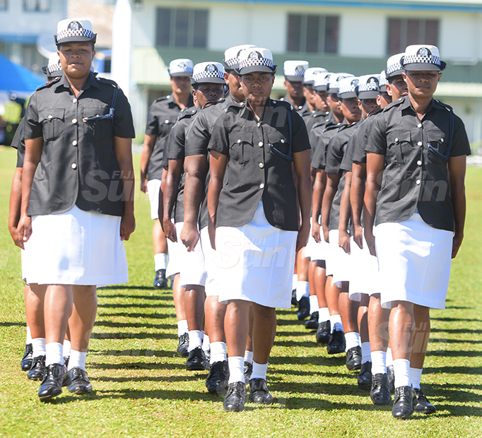 259 were part of the Police basic recruit passout parade at Police Nasova ground on September 11, 2020. Photo: Ronald Kumar.