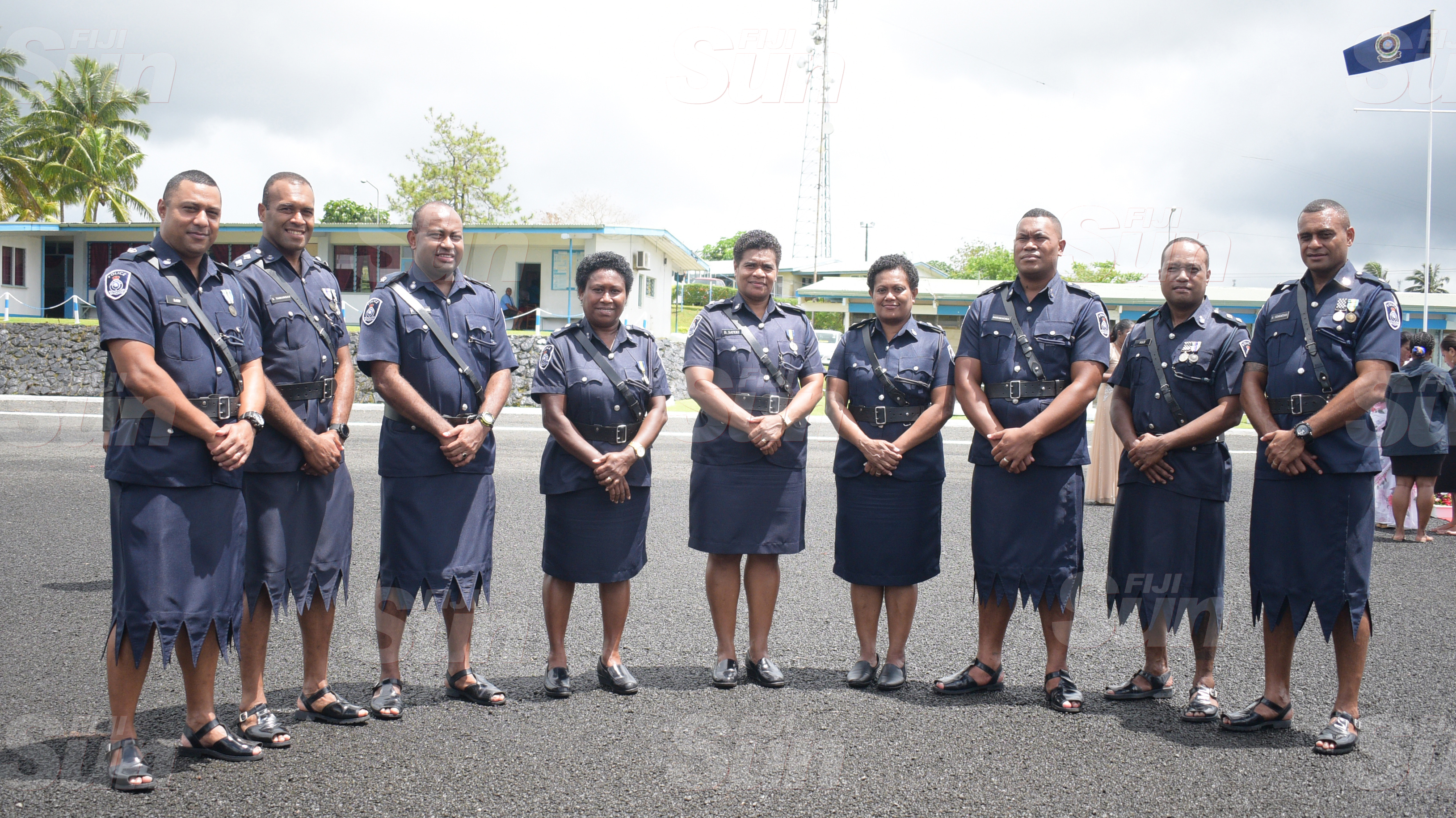 Senior Police officers during Police Remembrance Day ceremony at Police Special Response Unit on September 29, 2020. Photo: Ronald Kumar