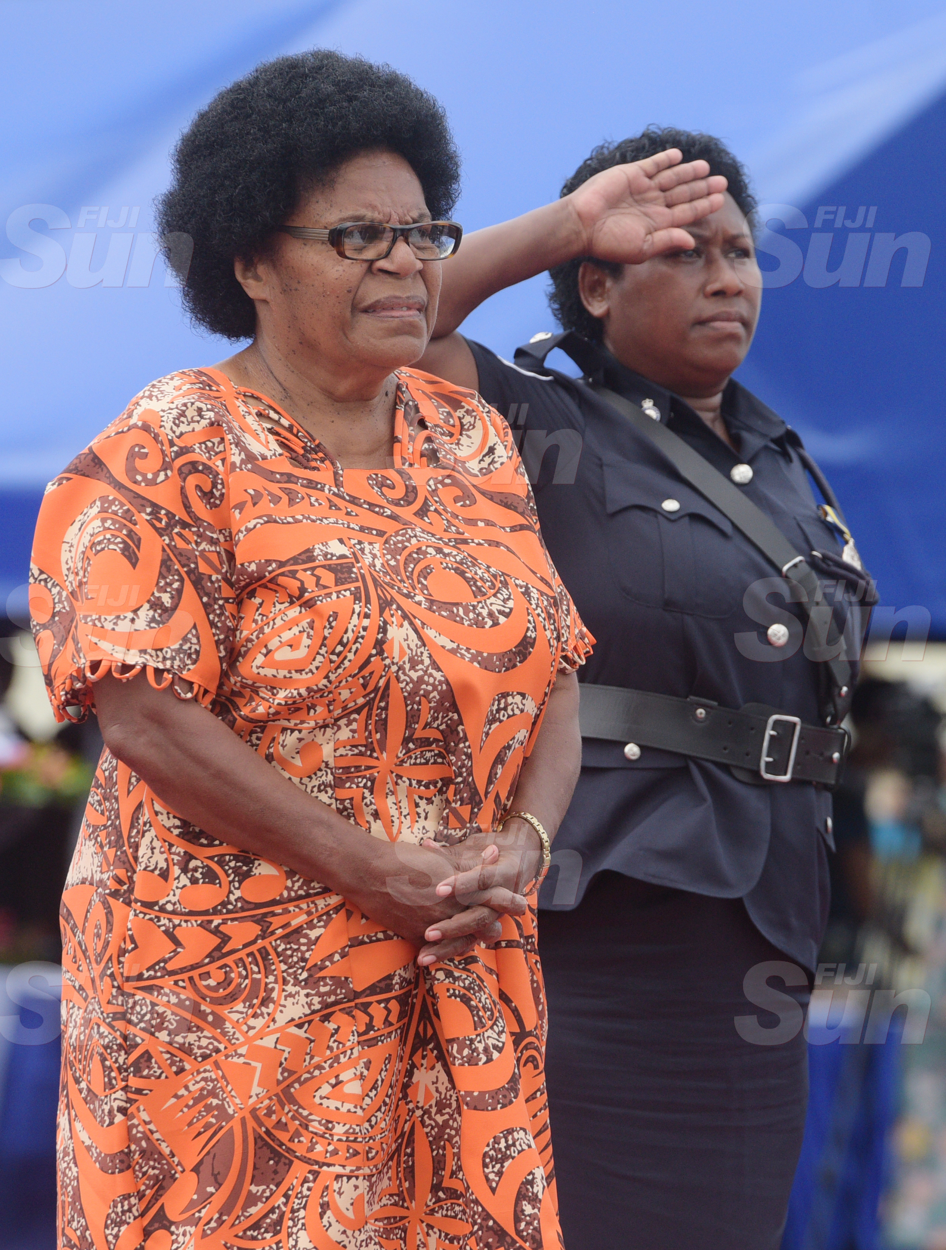 Makareta Koroi while laying the wreath to remeber her late son, Cont. Siuta Niumataiwalu during Police Remembrance Day at Police Special Response Unit on September 29, 2020. Photo: Ronald Kumar.