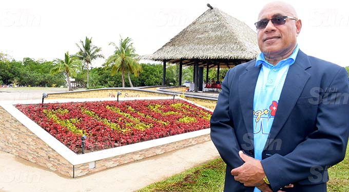 SuvaLami Special Administrator Chair, Isikeli Tikoduadua following tree planting setting up of special Fiji 50 garden at My Suva Park for Fiji Day celebration on September 30, 2020. Photo: Ronald Kumar.