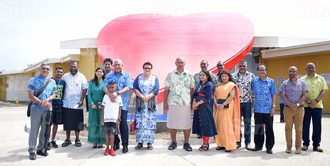 Prime Minister Voreqe Bainimarama with Eric Raj 9, Marry Bainimarama , Speaker of Parliament Ratu Epeli Nailatikau and Dr. Krupali Tappoo and Summet Tappoo during the Sai Sanjeevani medical centre 4th year anniversary on September 19, 2020. Photo: Ronald Kumar.