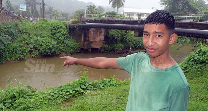 Fifteen year old Ben Joseph of Wailoku, Tamavua saw the body of the 3 year-old boy floating in Savura creek meters away from his home on September 22, 2020. Photo: Ronald Kumar.