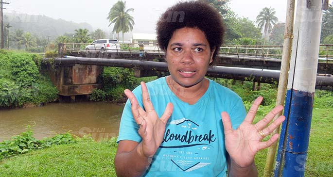 Monika Masiwini , a shocked neighbor still could not believe how the 3 year-old boy Anare Sikoa, drowned at a creek in Wailoku, Tamavua  on September 22, 2020. Photo: Ronald Kumar.