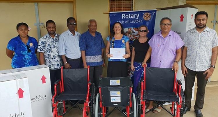 Lautoka Rotary Donates 240 Wheelchairs
