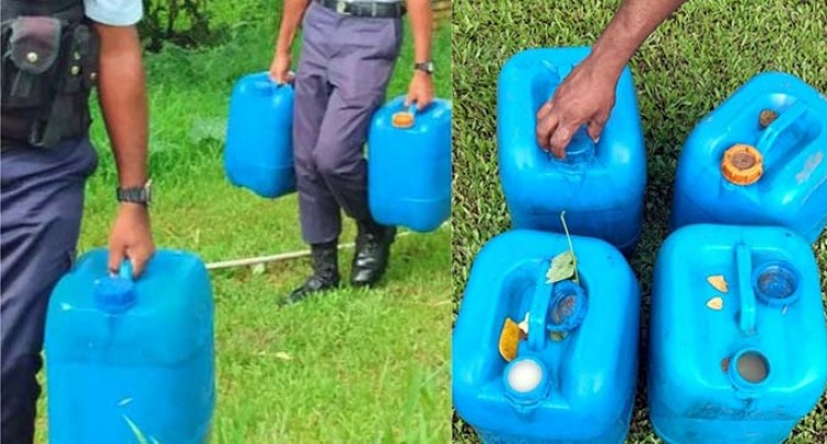 Gallons Allegedly Containing Rice Whiskey Seized In Labasa