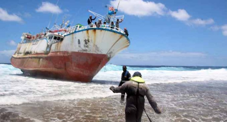 Fishing Vessel Runs Aground At Navatu Reef, 15 Crew Members Safe
