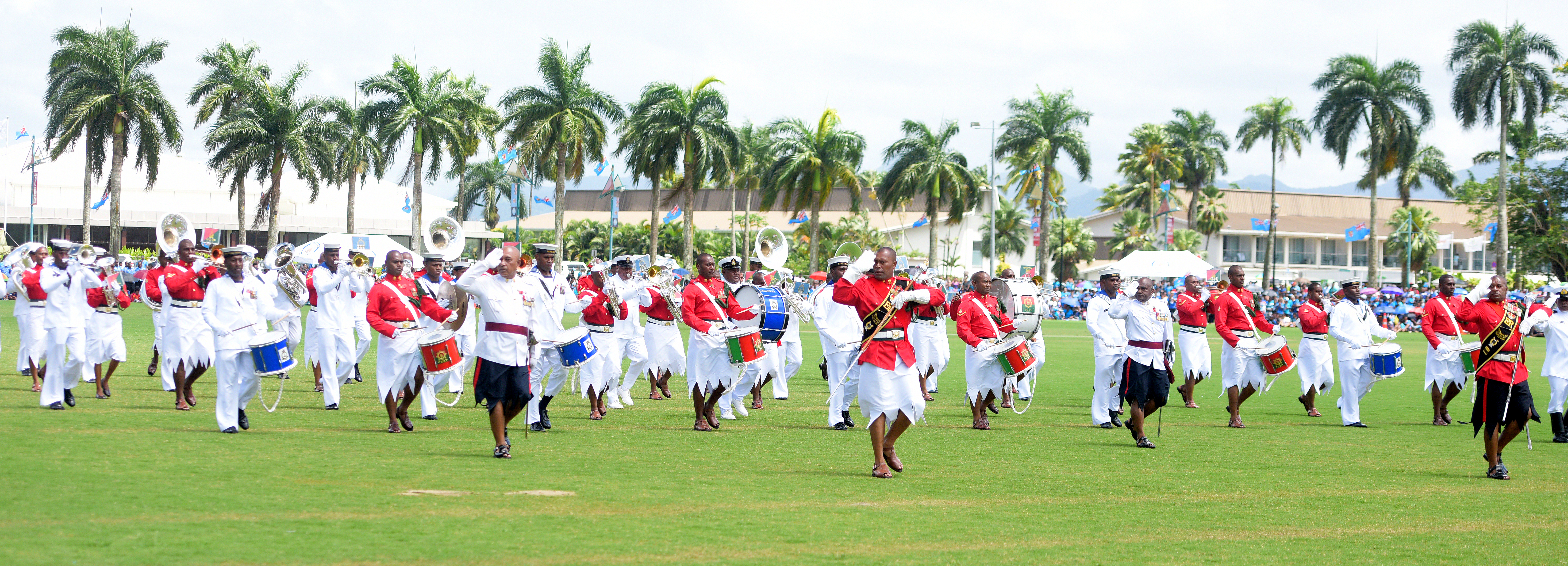 RFMF Naval division band during The 50th Independence commemorative Fiji Day Parade at Albert Park on October 7, 2020. Photo: Ronald Kumar.