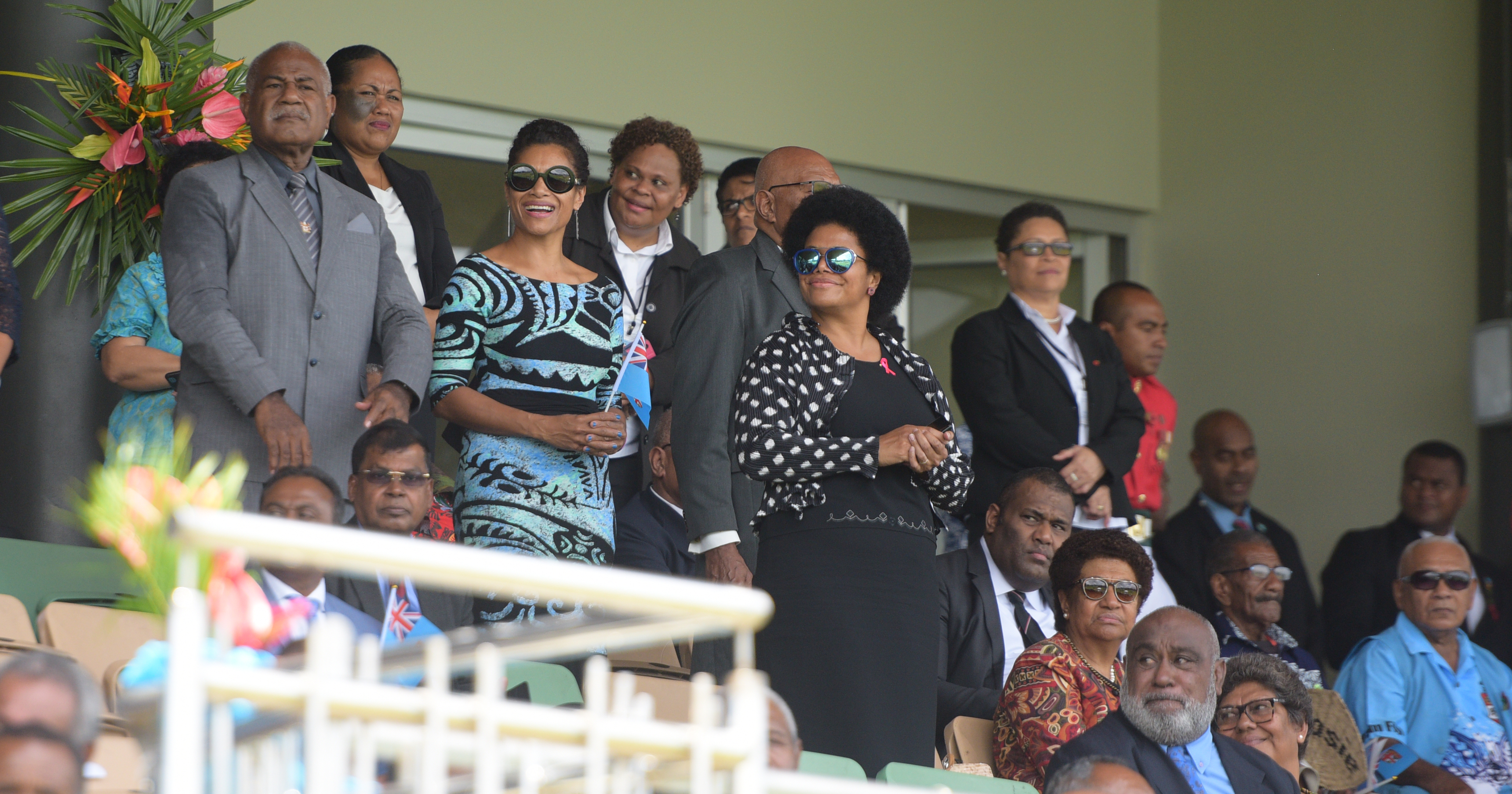 Opposition Members of Parliament and Government Ministers during The 50th Independence commemorative Fiji Day Parade at Albert Park on October 7, 2020. Photo: Ronald Kumar.