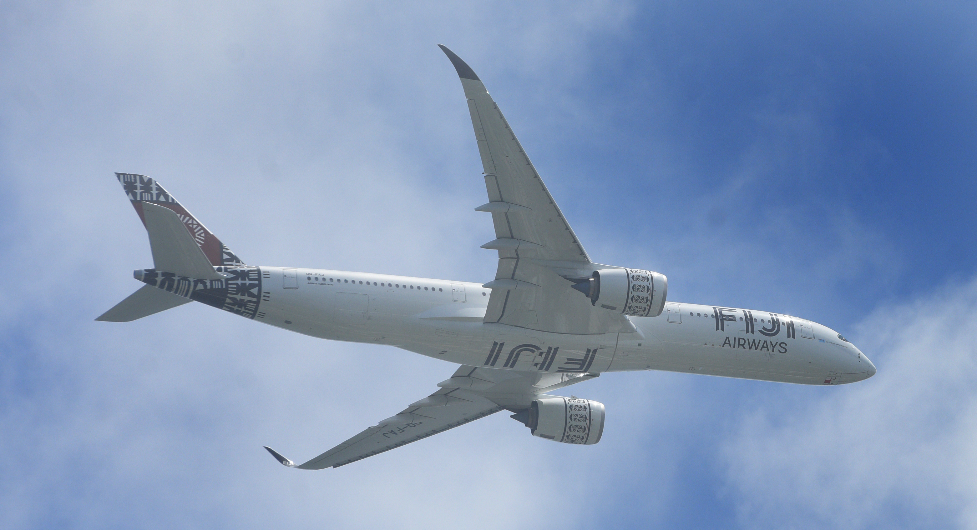 Fiji Airways A350 while flying over Albert Park during  50th Independence Fiji Day Parade at Albert Park on October 7, 2020. Photo: Ronald Kumar.