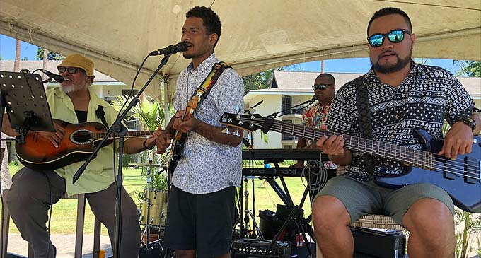 Big Wilz and The Guru's of Groove entertain guests during the Asian Street Food-themed Beach Beats & Eats at the Shangri-La's Fijian Resort and Spa last Sunday.