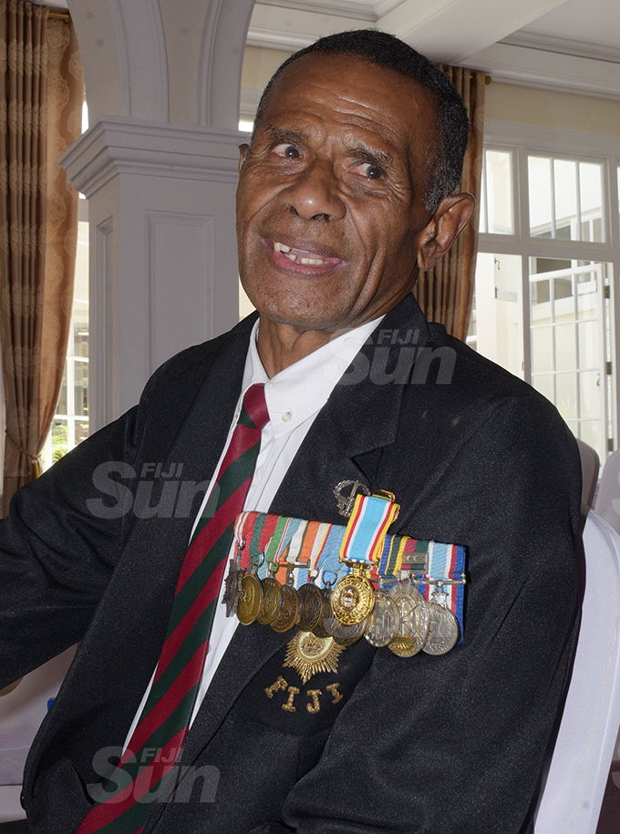 Josua Seduadua after receiving 50th anniversary of Independence commemorative medal during special investiture ceremony by President Jioji Konrote at State House on October 6, 2020. Photo: Ronald Kumar.