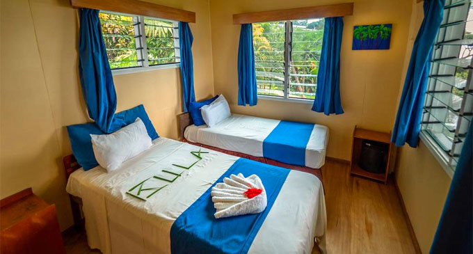 A room at Daku Resort, Savusavu.