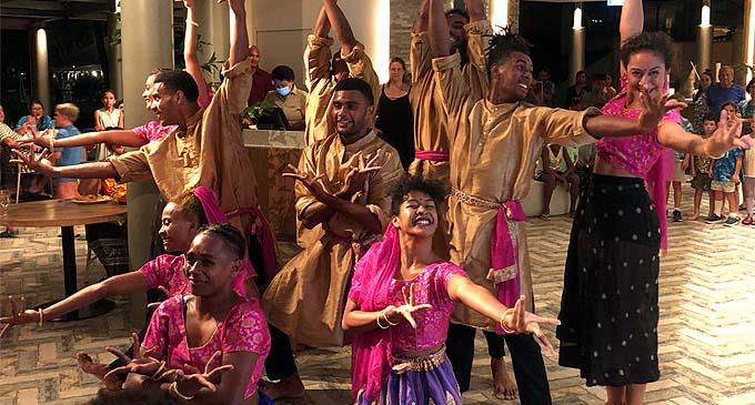 The Vou Dance Group at  the Shangri-La's Fijian Resort and Spa's Asian Street Food-themed Beach Beats & Eats last weekend.