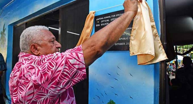 PM Bainimarama At The Opening Of Golden Jubilee Celebrations At Lautoka School For Special Education