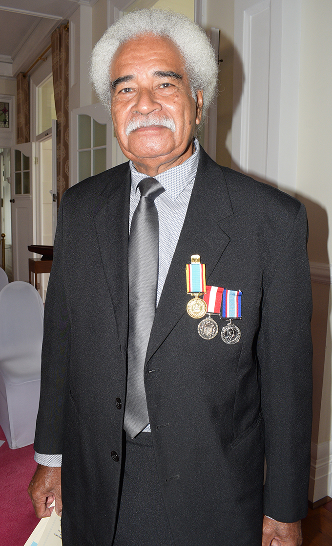 Manoa Rasigatale following the 50th anniversary of Independence commemorative medal ceremony from President Jioji Konrote at State House on October 27, 2020. Photo: Ronald Kumar.