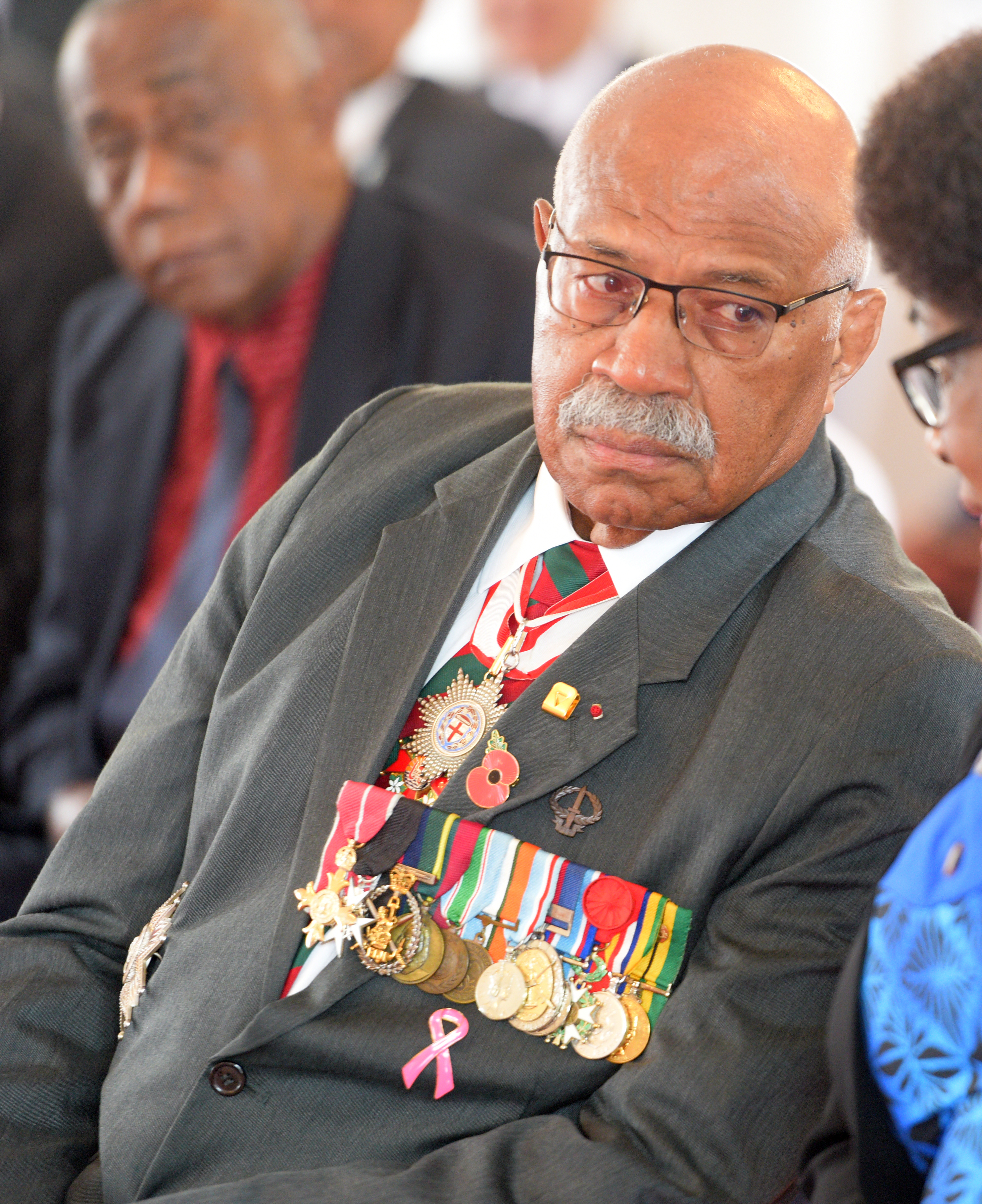 Opposition Leader, Sitiveni Rabuka during 50th anniversary of Independence commemorative medal  investiture ceremony at State House on October 13, 2020. Photo: Ronald Kumar.