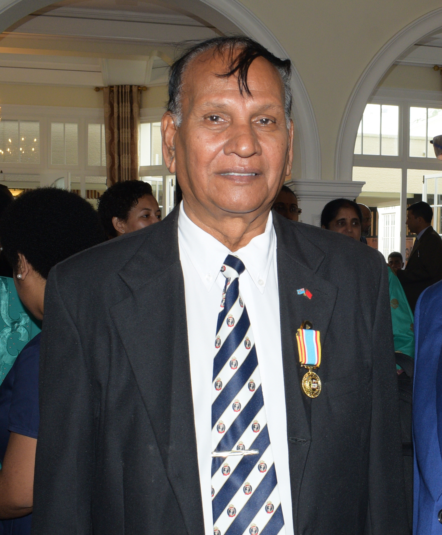 Krishan Vilash following the 50th anniversary of Independence commemorative medal investiture ceremony at State House on October 13, 2020. Photo: Ronald Kumar.