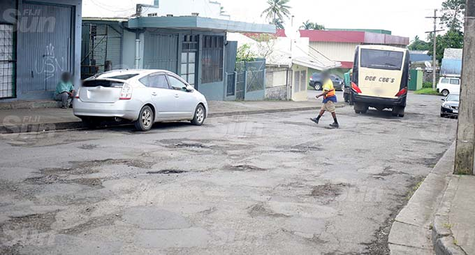 Poor road condition at Namuka Street in Samabula on October 21, 2020. Photo: Ronald Kumar