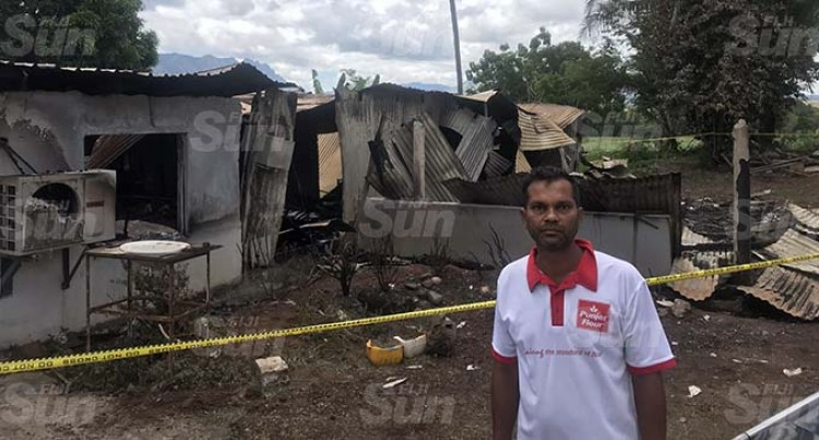 Fire Leaves Family Without Home In Nadi