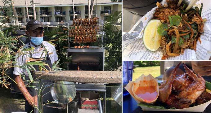 the Asian Street Food-themed Beach Beats & Eats at the Shangri-La's Fijian Resort and Spa last Sunday.