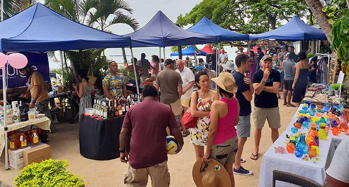 Vuda Beach Market is a monthly event.