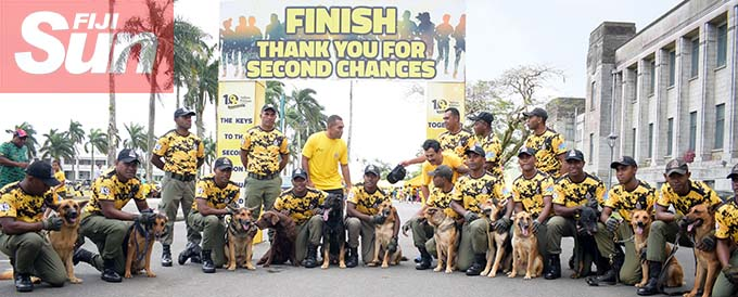 Fiji Corrections Service K9 unit during their annual yellow ribbon walk at Albert park on October 31, 2020. Photo: Ronald Kumar.