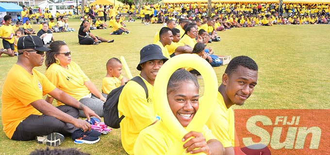 Esther Turaga (with balloon) was amongst hundreds that attended Fiji Corrections Service annual yellow ribbon walk at Albert park on October 31, 2020. Photo: Ronald Kumar.