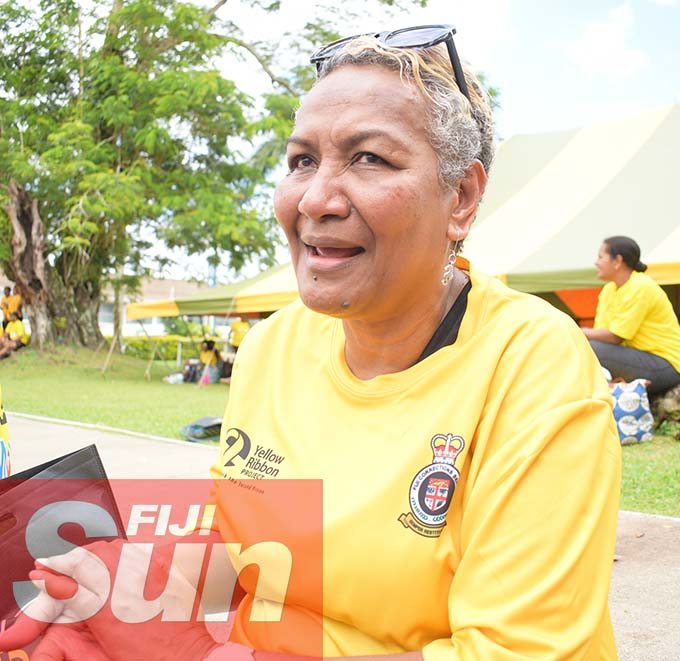 Temalesi Vakaotia was also part of Fiji Corrections Service annual yellow ribbon walk at Albert park on October 31, 2020. Photo: Ronald Kumar.