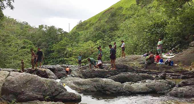 Cool off in the mountain stream at Mt Korobaba.