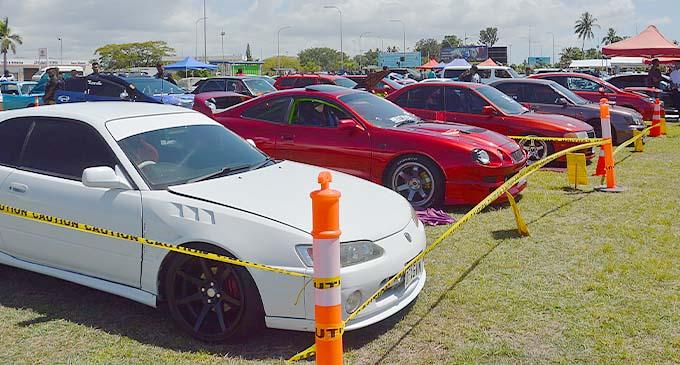 Vehicles lined up at the Show N Shine Nationals car show at Namaka Public School, Nadi on November 7, 2020. Photo: Waisea Nasokia.