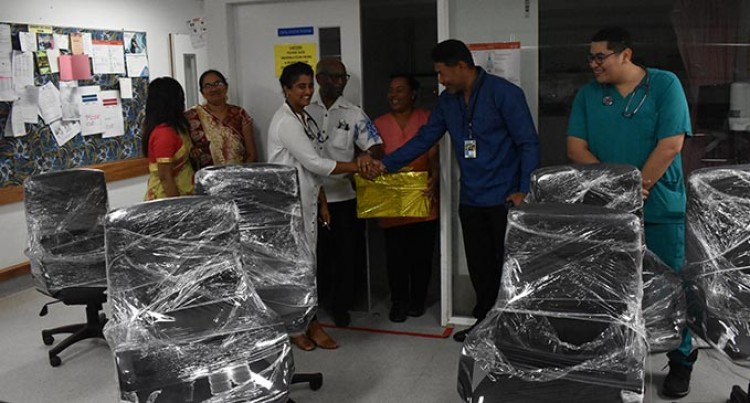 Professor Merchant Donates Chairs To Lautoka Hospital