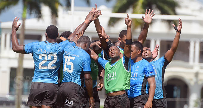 Fiji Rugby Sevens Team Training Session