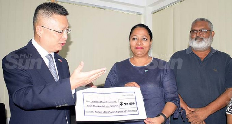 Chinese Embassy Gives $90,000 For Sigatoka Town Amphitheatre Works