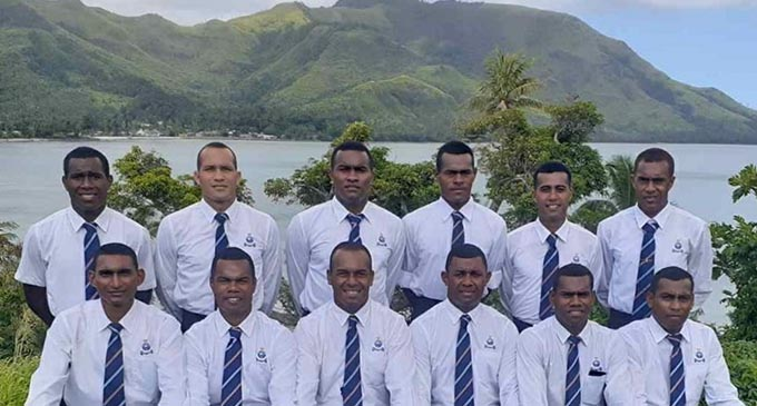 Some of the district soccer reps who were instrumental in the raid in Kadavu over the past week.