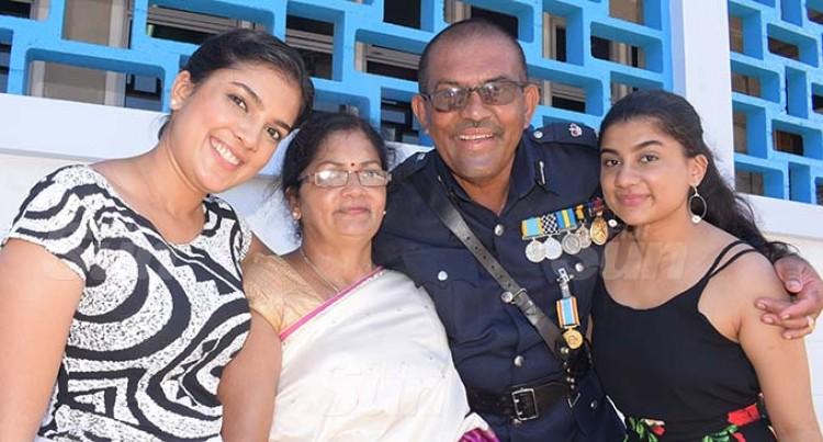 Superintendent Singh Gets Fiji50 Medal